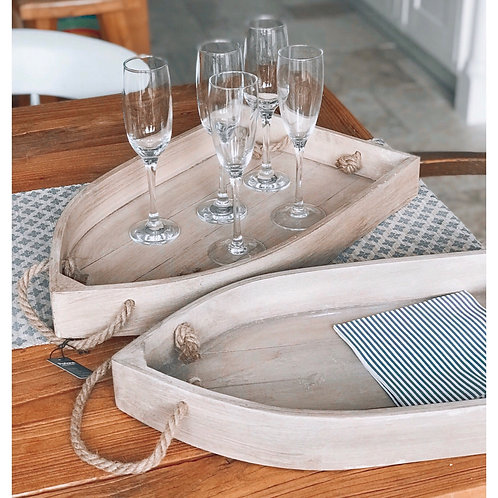 WOODEN BOAT TRAYS