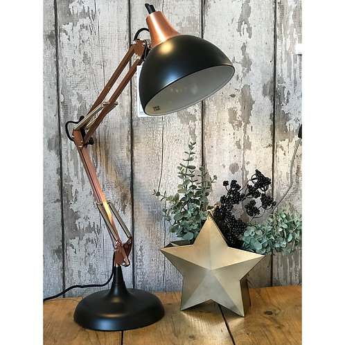 BLACK/COPPER ANGLE LAMP