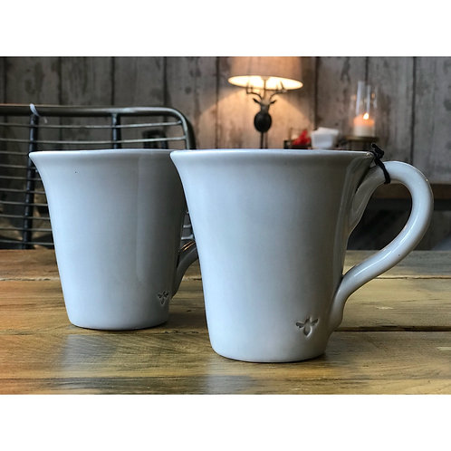 LIGHT GREY BEE MUG