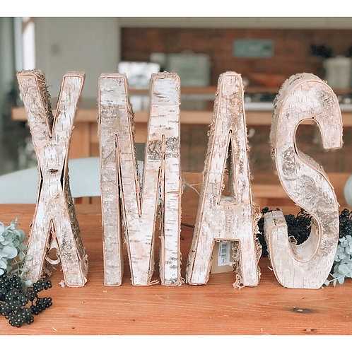 XMAS INDIVIDUAL WOODEN LETTERS