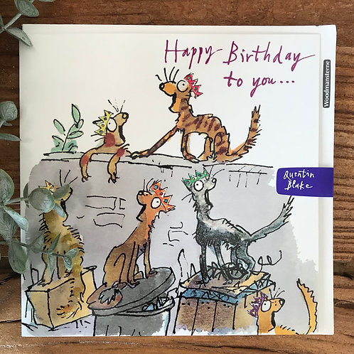 QUENTIN BLAKE HAPPY BIRTHDAY TO YOU CARD