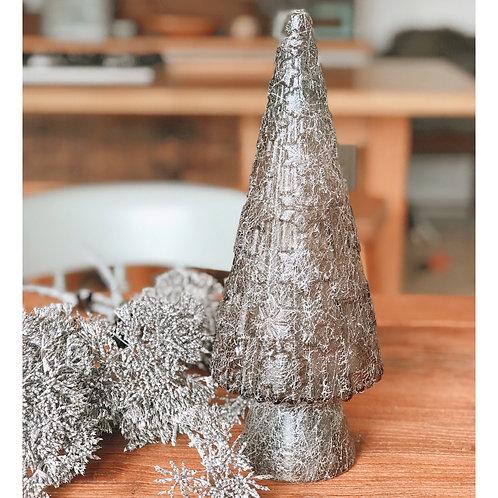 WEBBED GLASS CHRISTMAS TREE