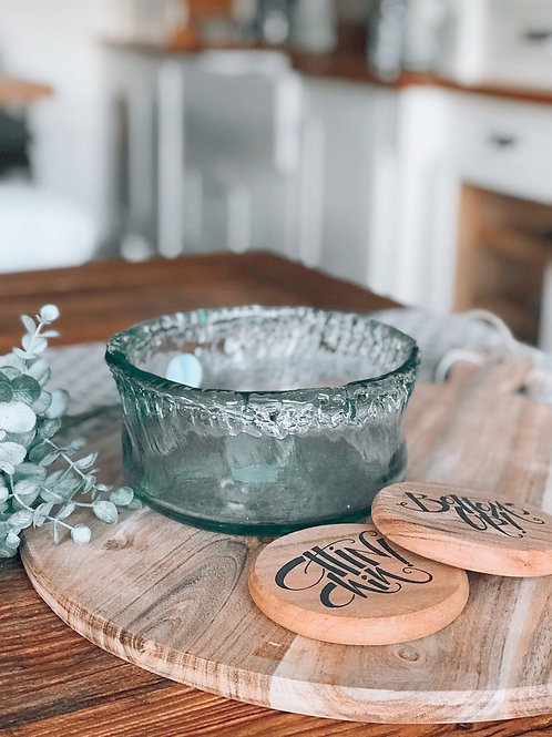 RECYCLED GLASS BOWL
