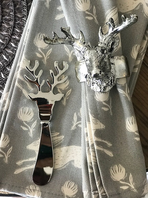 BOXED STAG BUTTER KNIVE