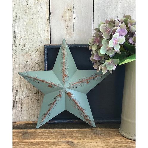 BLUE RUSTIC WALL STAR