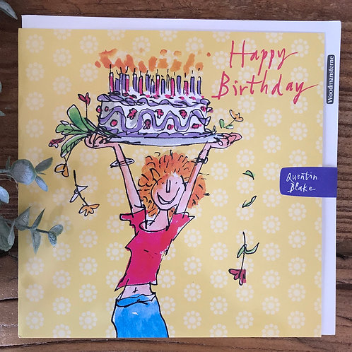 QUENTIN BLAKE HAPPY BIRTHDAY CARD