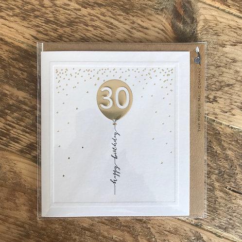 30 BALLOON CARD