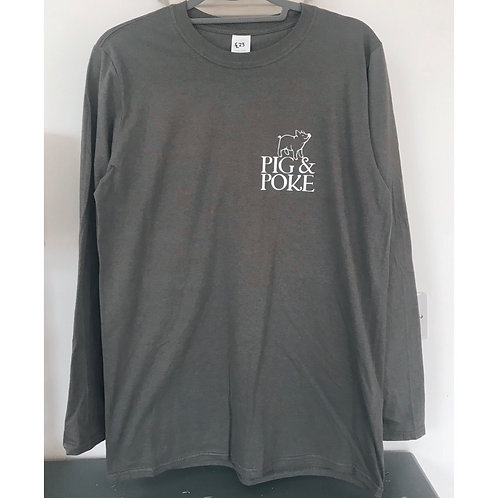 PIG & POKE LONG SLEEVED GREY TOP