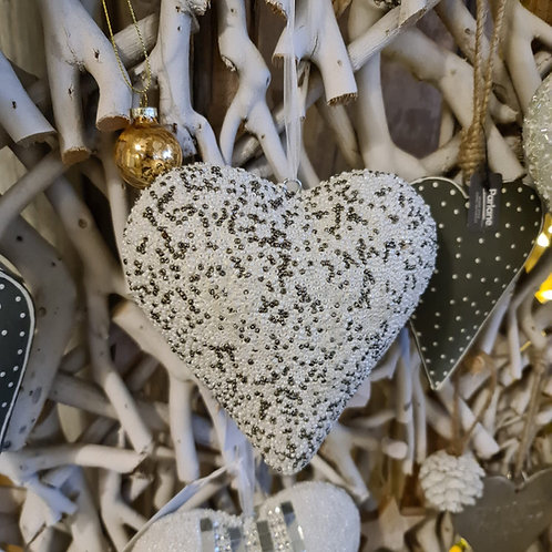 SOLID BEADED HEARTS