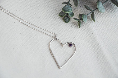 WONKY HEART NECKLACE WITH STUD