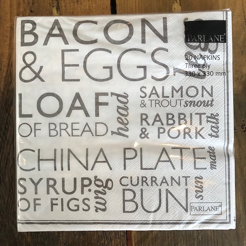 BACON & EGGS NAPKINS
