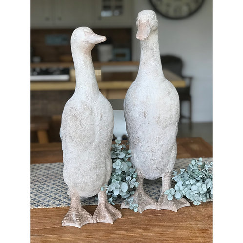GREY RESIN DUCK PUDDLES AND WADDLES