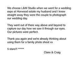 Claire & Craig