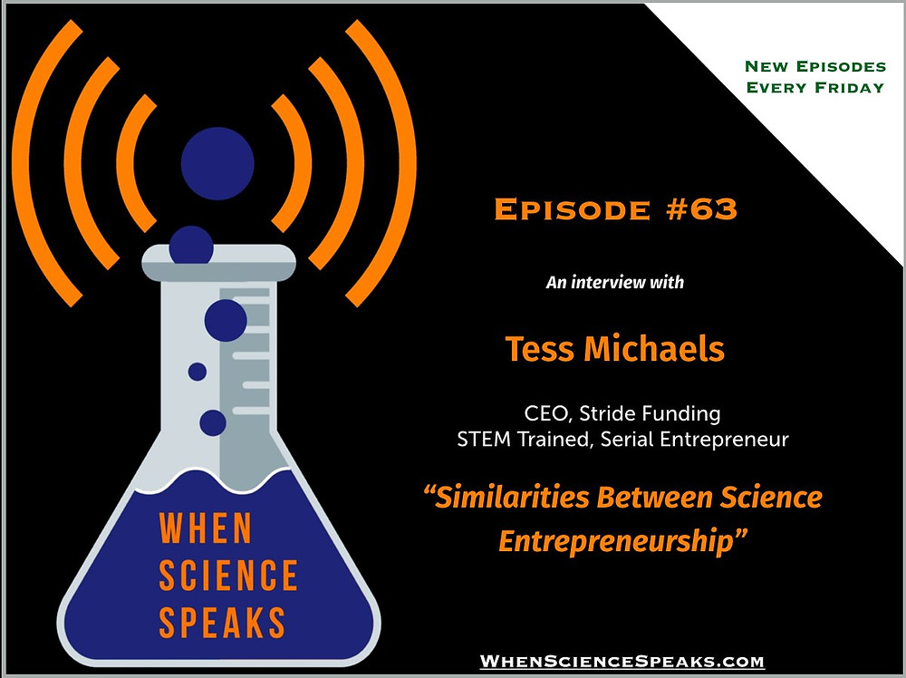 When Science Speaks Podcast: Stride Funding CEO Tess Michaels