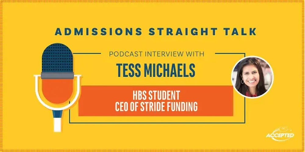 Admissions Straight Talk Stride Funding CEO Tess Michaels