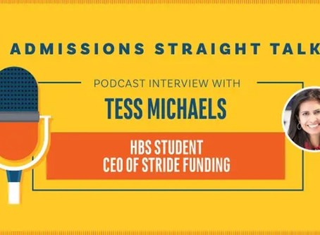 Admissions Straight Talk: Stride Funding CEO Tess Michaels