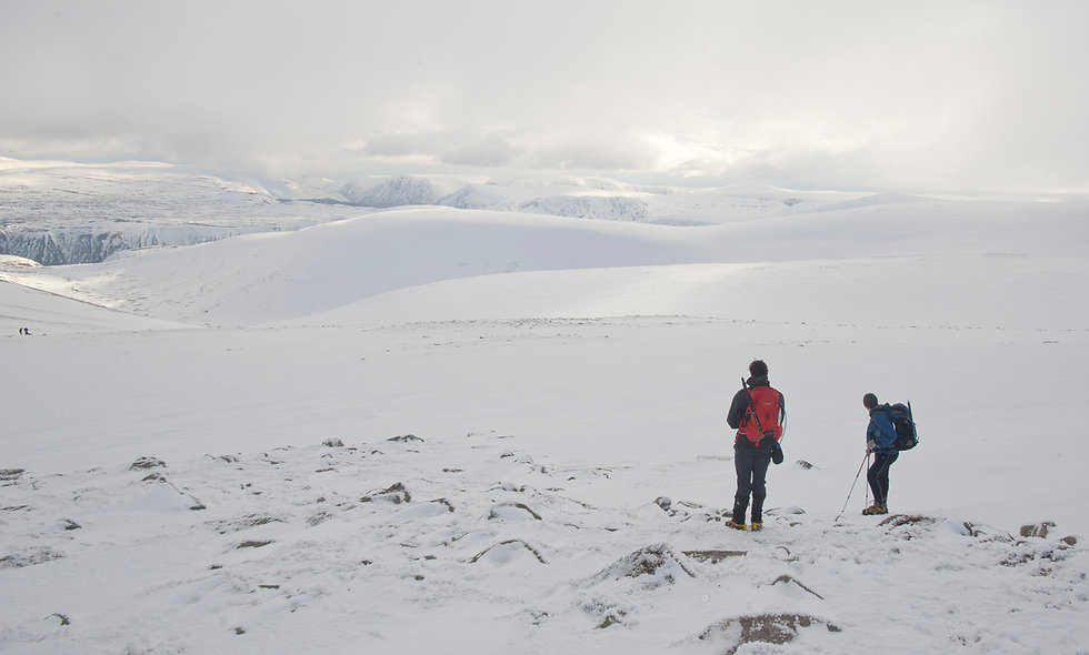 Winter Hiking in North West Highlands -07 March