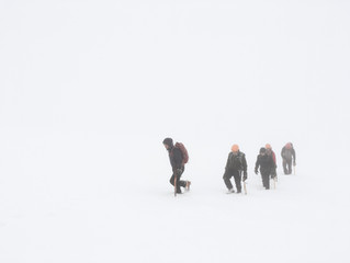 Have you ever hiked in a Winter storm?