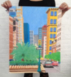 Park Avenue NYC illustration by Patricia Maldonado