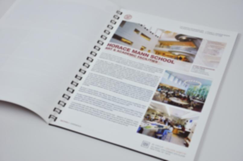 Architectural proposal editorial design layout by Patricia Maldonado for Gruzen Samton