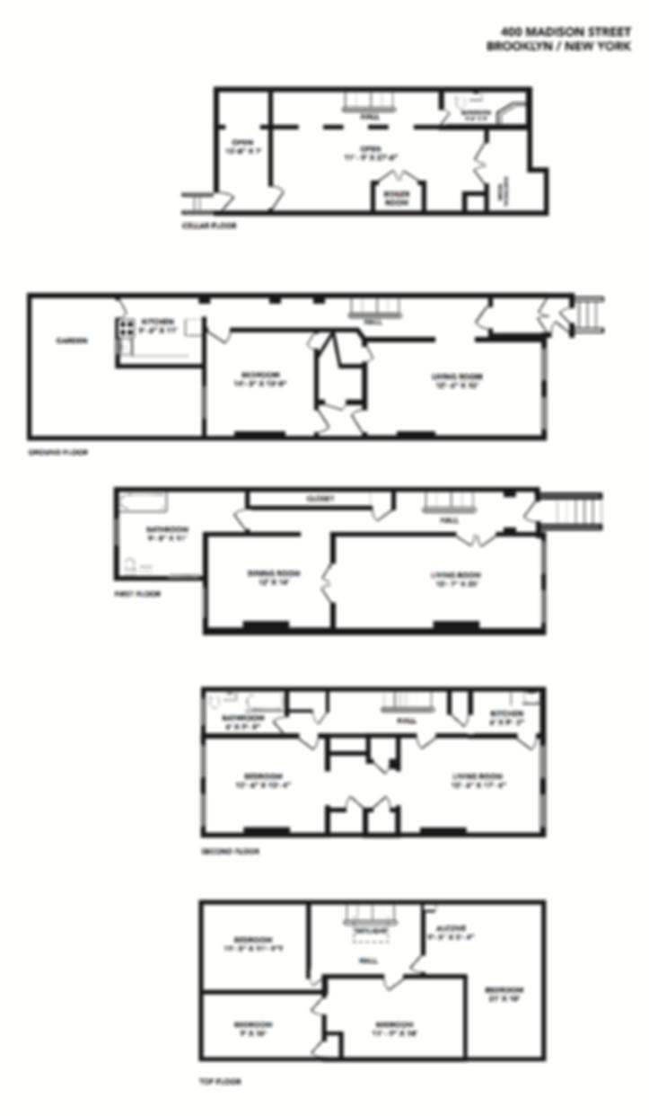 Floor Plan design by Patricia Maldonado for Corcoran Brooklyn