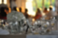 wedding reception photograph of glasses by Green Flamingo Design photography