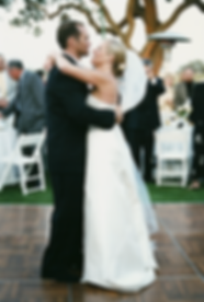 Wedding photograph of couple dancing in vineyard in santa barbara by Green Flamingo Design South Florida