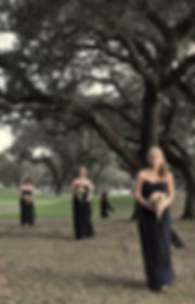 Bridesmaids at wedding in Fort Lauderdale by Green Flamingo Design