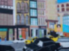 Soho NYC street illustration by Patricia Maldonado