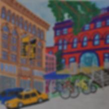 Pratt Brooklyn and Manhattan buildings illustration by Patricia Maldonado