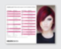 Kerabrilliance Demi-Glaze Color Conversion Chart for Keratin Complex design by Patricia Maldonado