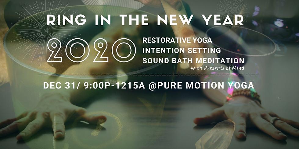 New Year's Eve Sound Immersion & Restorative Yoga