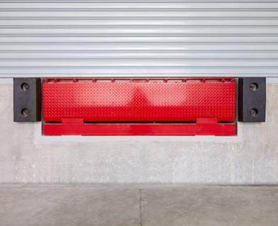 Dock leveler and shutter door,  use for