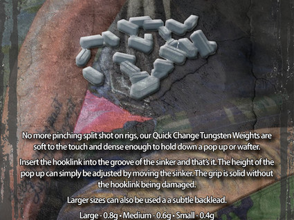 TUNGSTEN QUICK CHANGE WEIGHTS ARE BACK IN STOCK