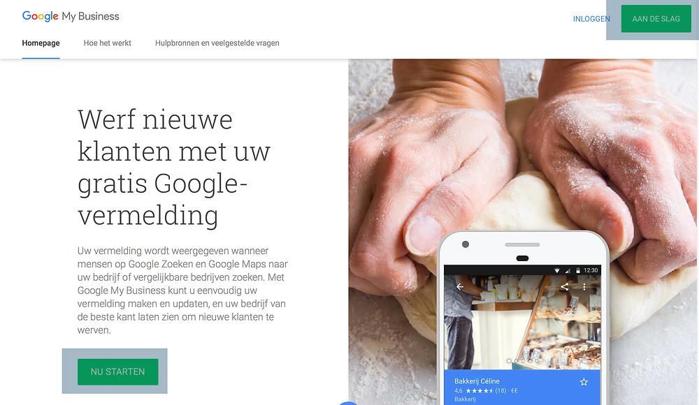 Inloggen op Google Mij Bedrijf