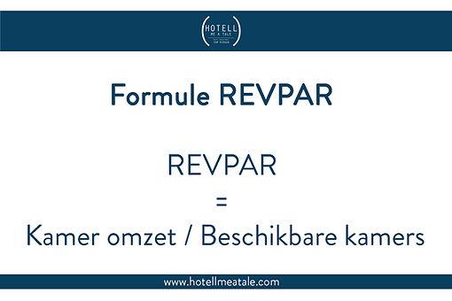 De Formule van REVPAR of REVene per Availale Room
