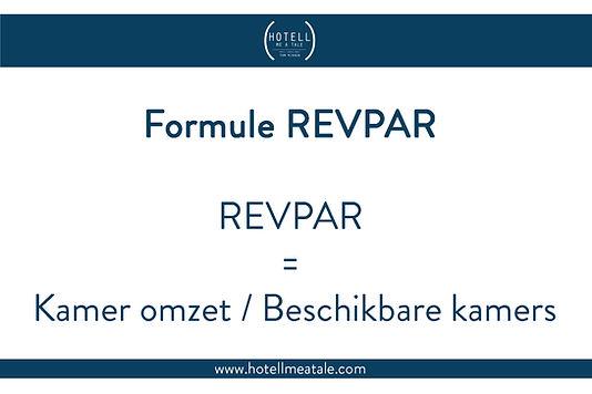 De formule van REVPAR of Revenue per Available Room