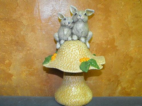 Dona's Rabbits on Mushroom