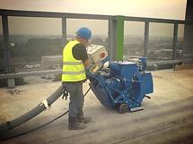 shot-blasting, Blastrac Services, Concrete Profiling