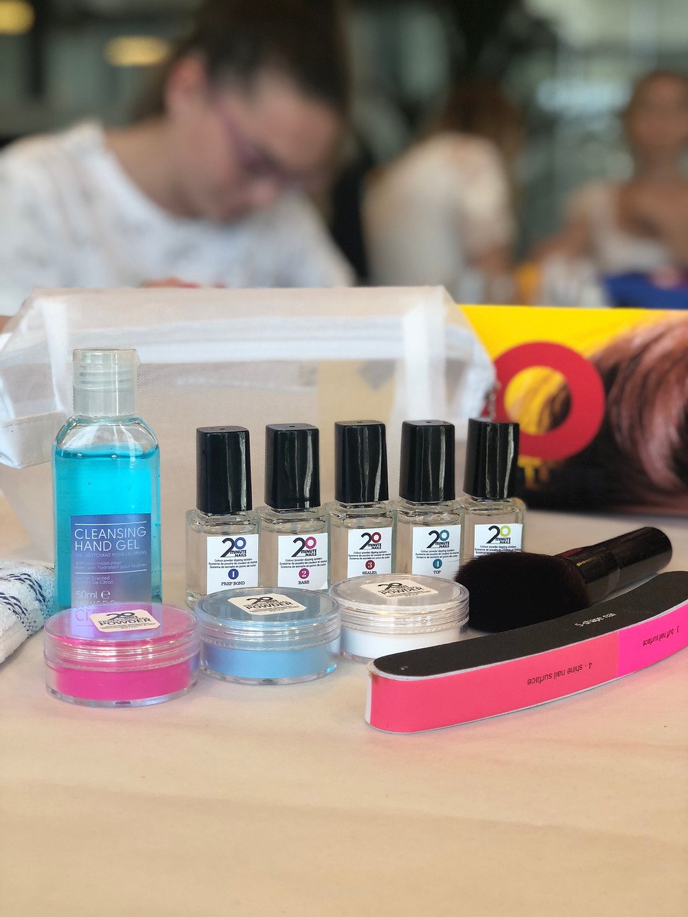Starter kit for a masterclass event at Barcelona 20 minute nails