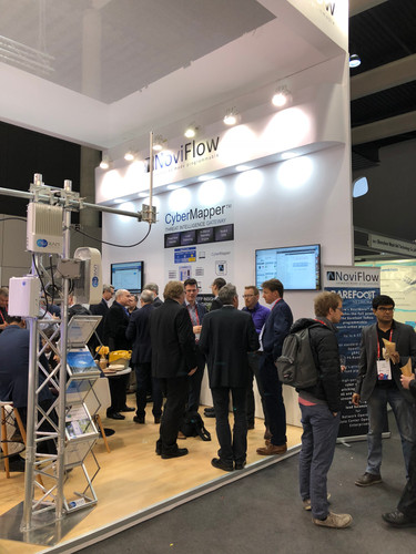 Noviflow stand at MWC at Fira Barcelona