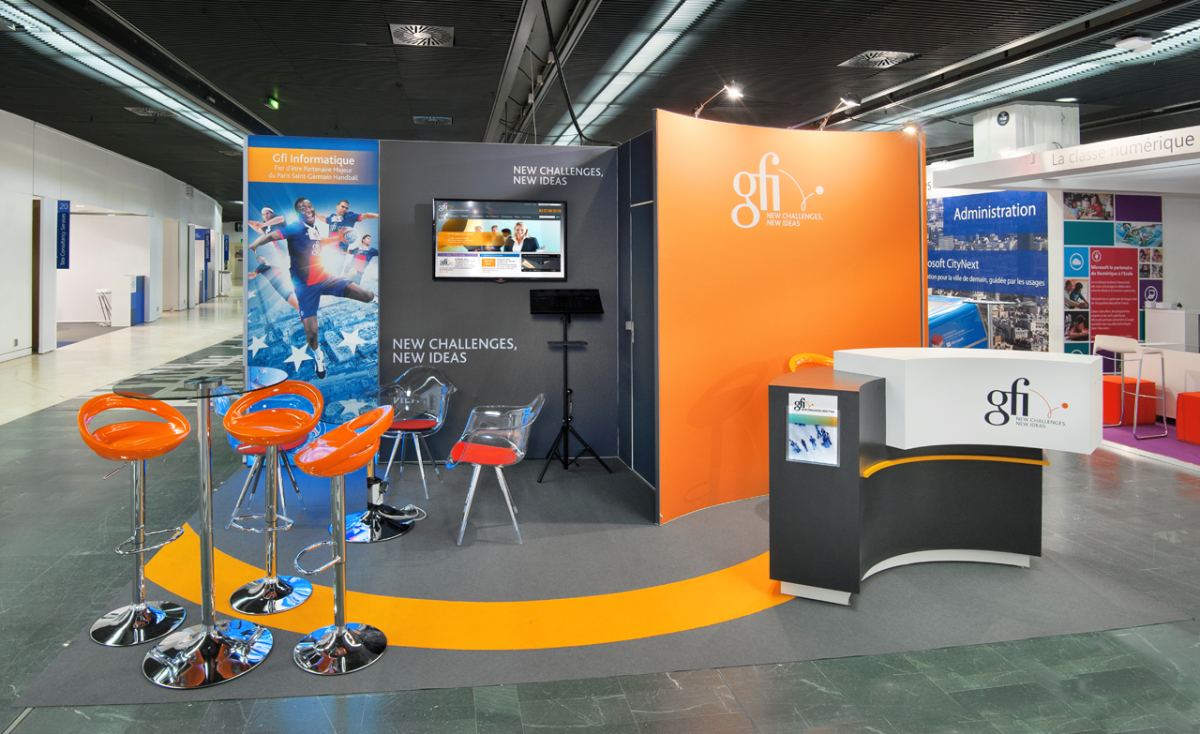 Booth at the trade show by event organising company