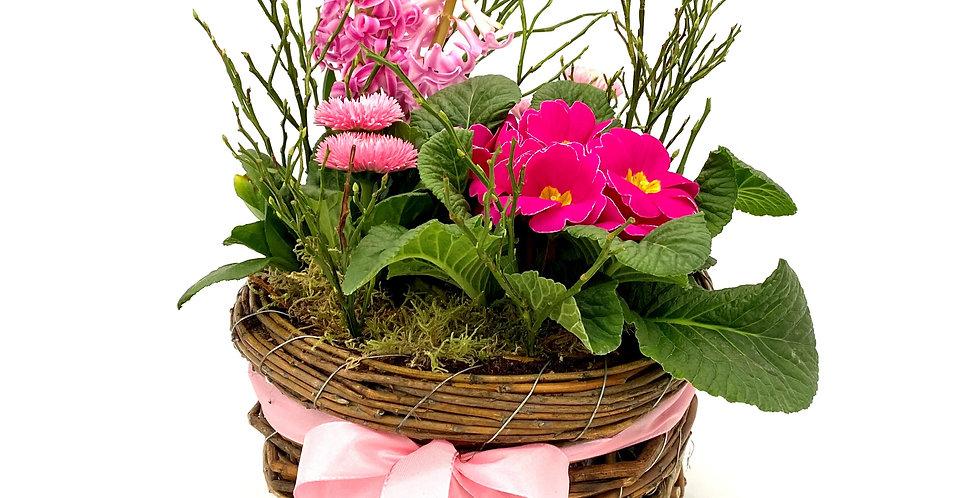 Frühlingsschale rosa, rund