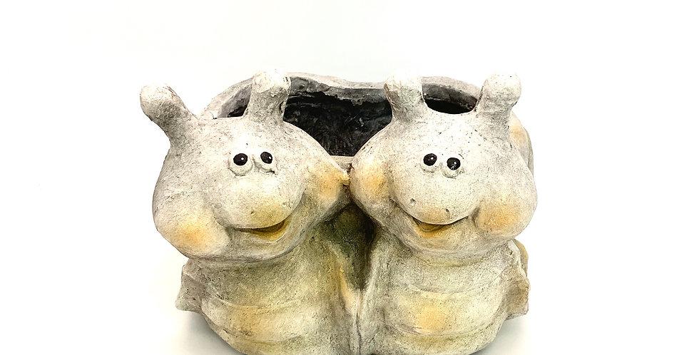 Schneckenpaar Dekotopf