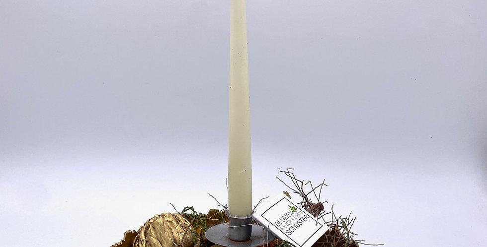 Kerzenschale gold-braun