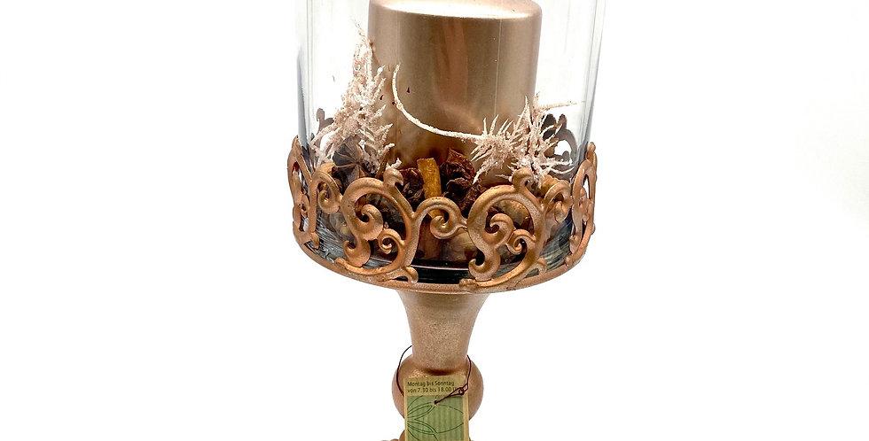 Kerzenständer Glas, bronze