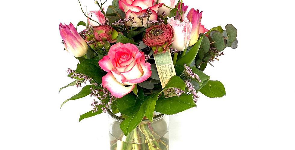 Blumenstrauß rosa-mix