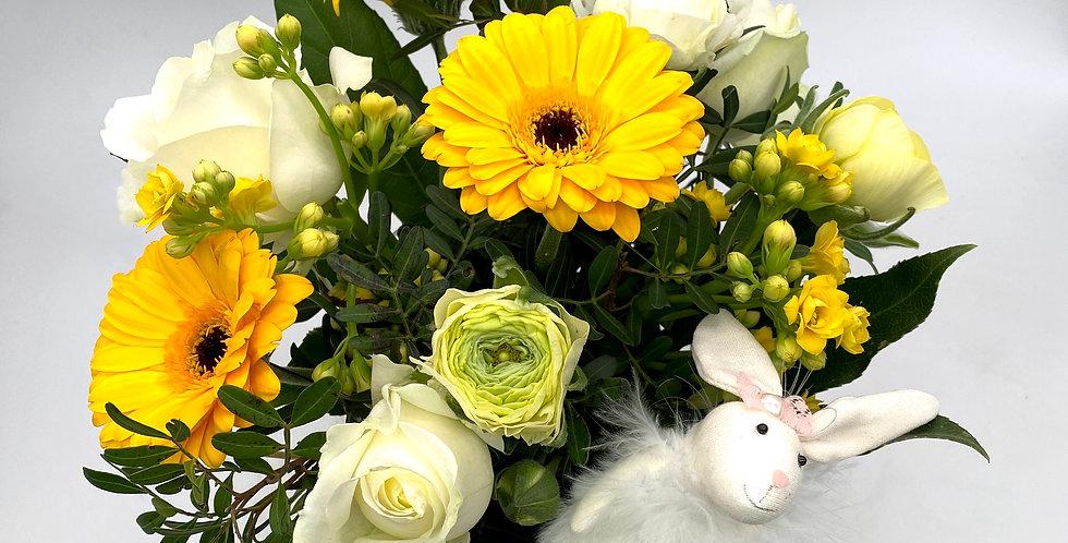 Osterstrauß (Gerbera und Rosen)