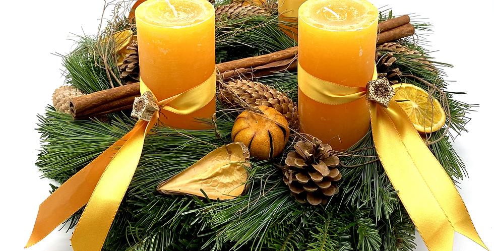 Adventkranz orange, 40 cm