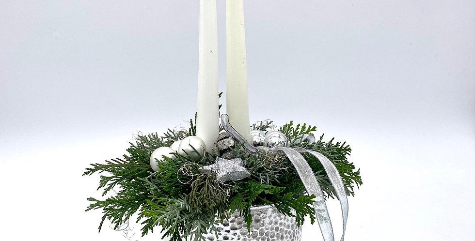 Kerzenschale mit silber